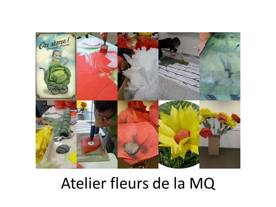 Atelier fleurs de la MQ
