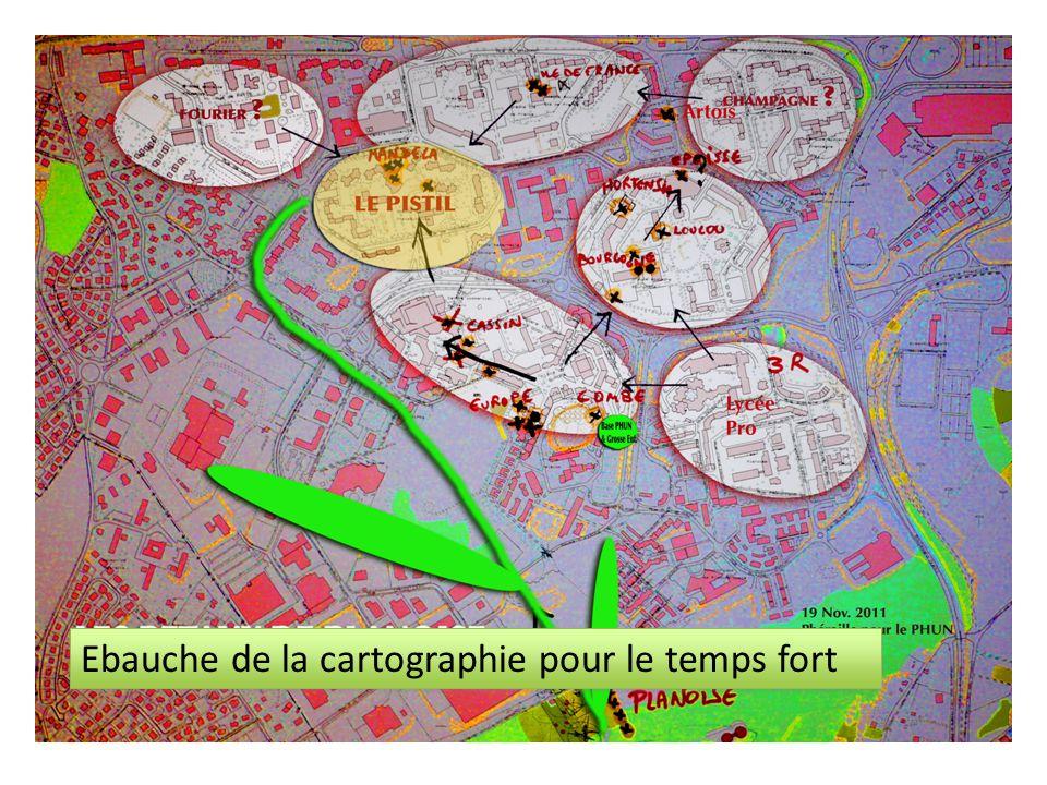 Ebauche de la cartographie pour le temps fort