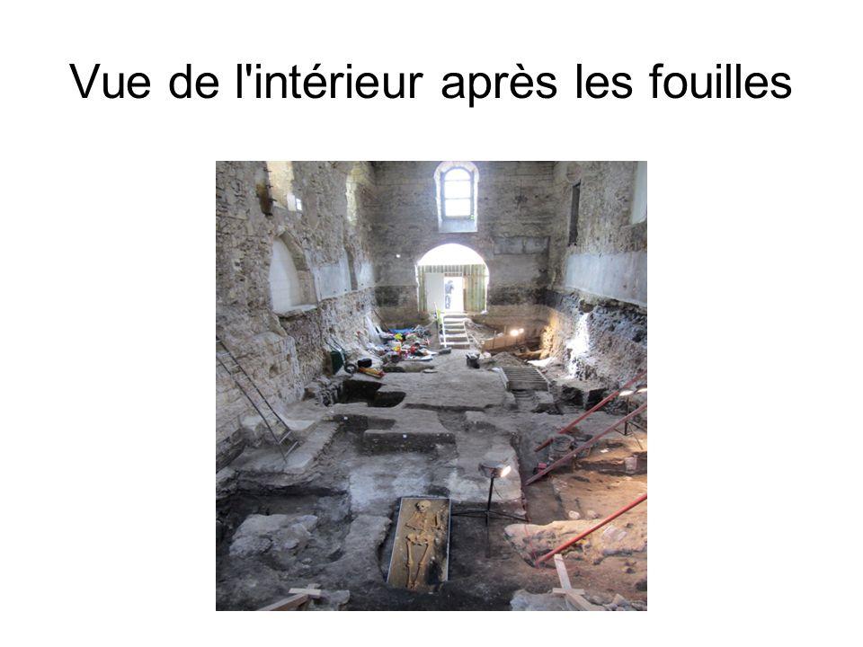 Vue de l'intérieur après les fouilles