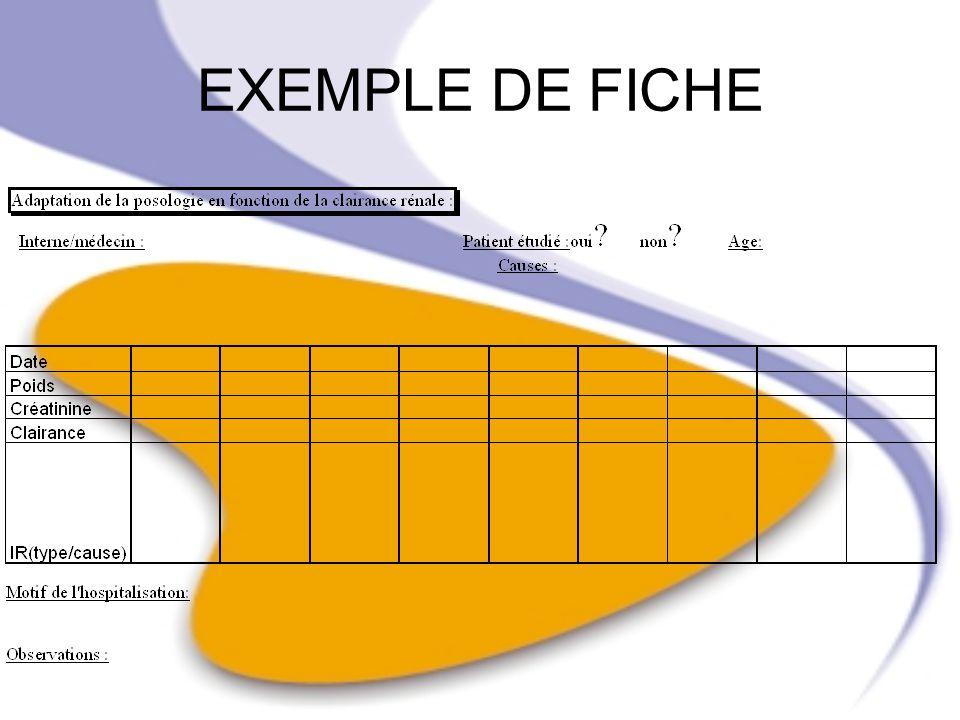 EXEMPLE DE FICHE