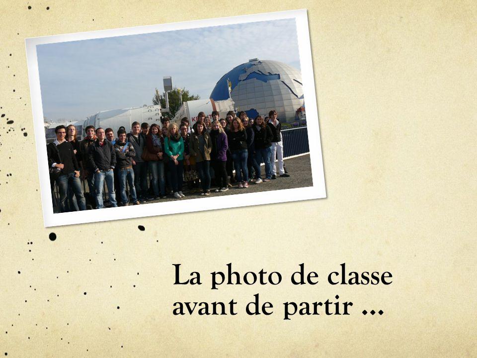 La photo de classe avant de partir …