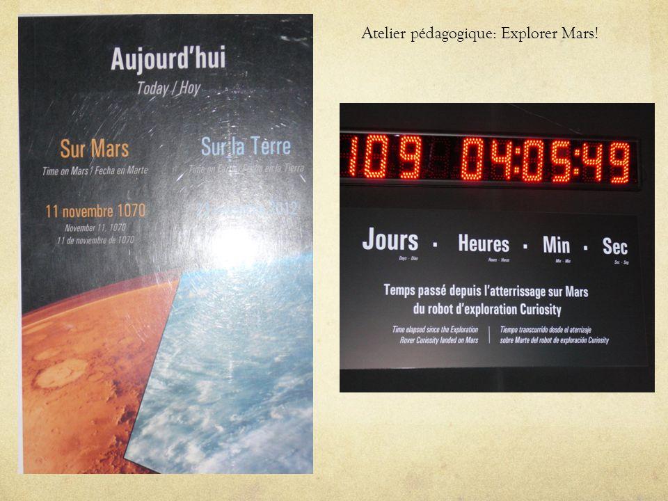 Atelier pédagogique: Explorer Mars!