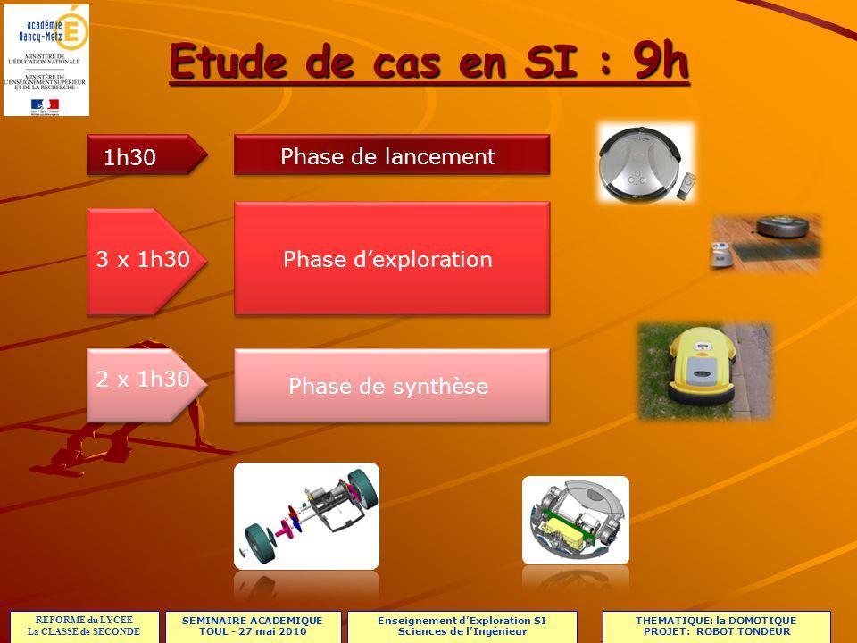 SEMINAIRE ACADEMIQUE TOUL - 27 mai 2010 REFORME du LYCEE La CLASSE de SECONDE Enseignement dExploration SI Sciences de lIngénieur THEMATIQUE: la DOMOTIQUE PROJET: ROBOT TONDEUR Présentation du thème Présentation du thème Présentation des supports: Présentation des supports: Ex: le robot tondeur Présentation des notions abordées: la chaîne dénergie Présentation des notions abordées: la chaîne dénergie Ex: le robot tondeur Présentation des 3 activités pratiques Présentation des 3 activités pratiques Ex: le robot tondeur Constitution des groupes: Constitution des groupes: 20 élèves = 5 groupes de 4 élèves.