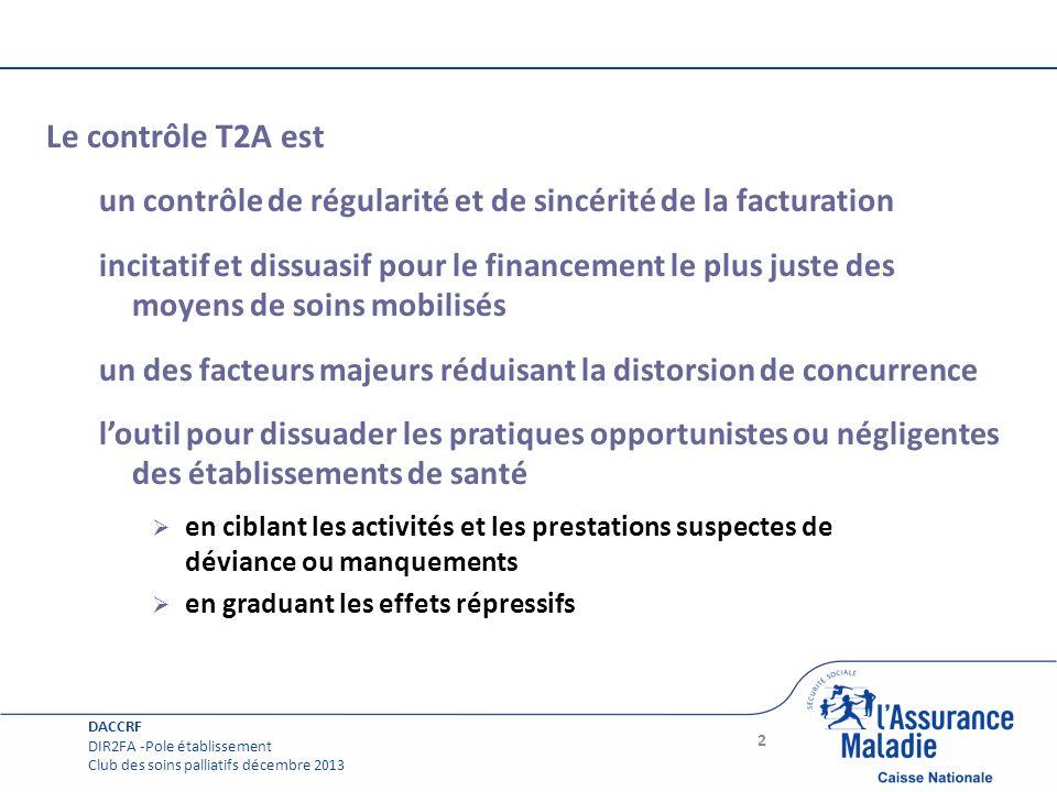Page courante Le contrôle T2A est un contrôle de régularité et de sincérité de la facturation incitatif et dissuasif pour le financement le plus juste