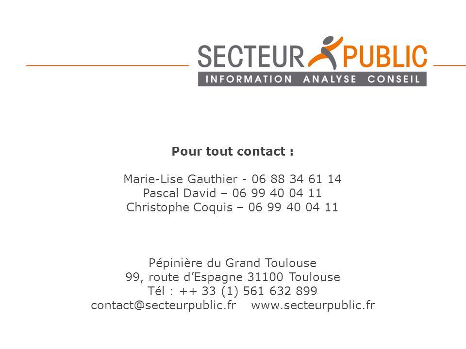Pour tout contact : Marie-Lise Gauthier - 06 88 34 61 14 Pascal David – 06 99 40 04 11 Christophe Coquis – 06 99 40 04 11 Pépinière du Grand Toulouse