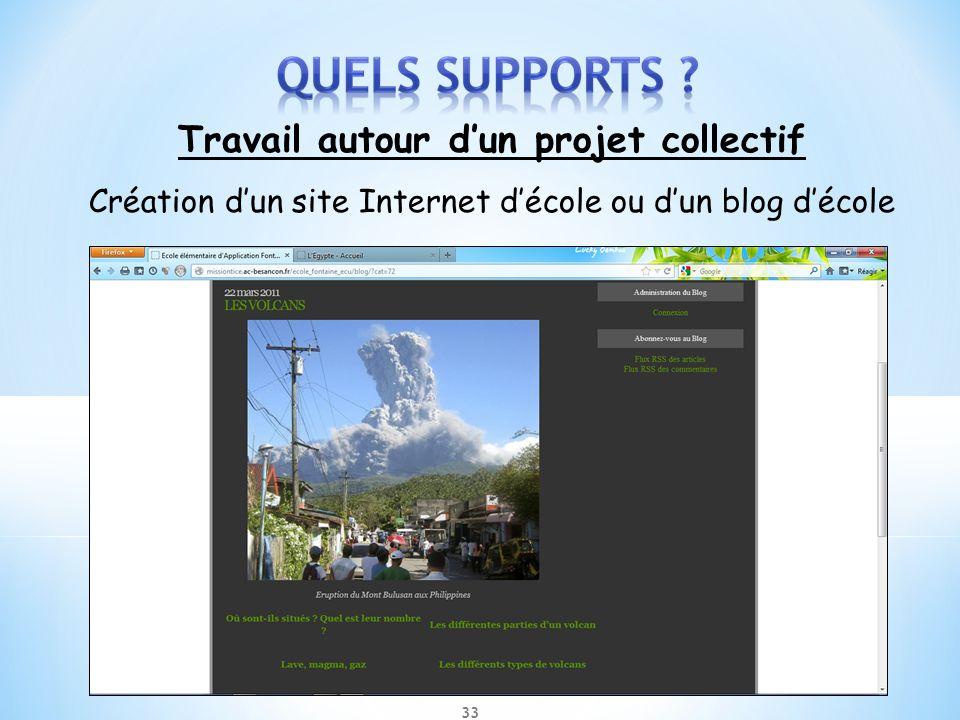 Travail autour dun projet collectif Création dun site Internet décole ou dun blog décole 33