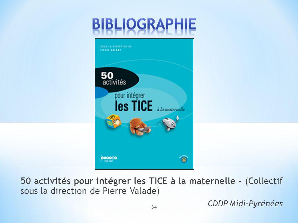 50 activités pour intégrer les TICE à la maternelle - (Collectif sous la direction de Pierre Valade) CDDP Midi-Pyrénées 34
