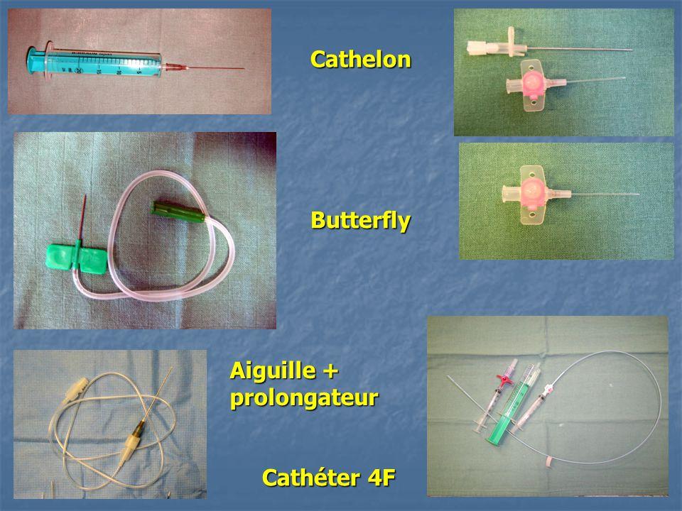 Cathéter 4F Cathelon Butterfly Aiguille + prolongateur