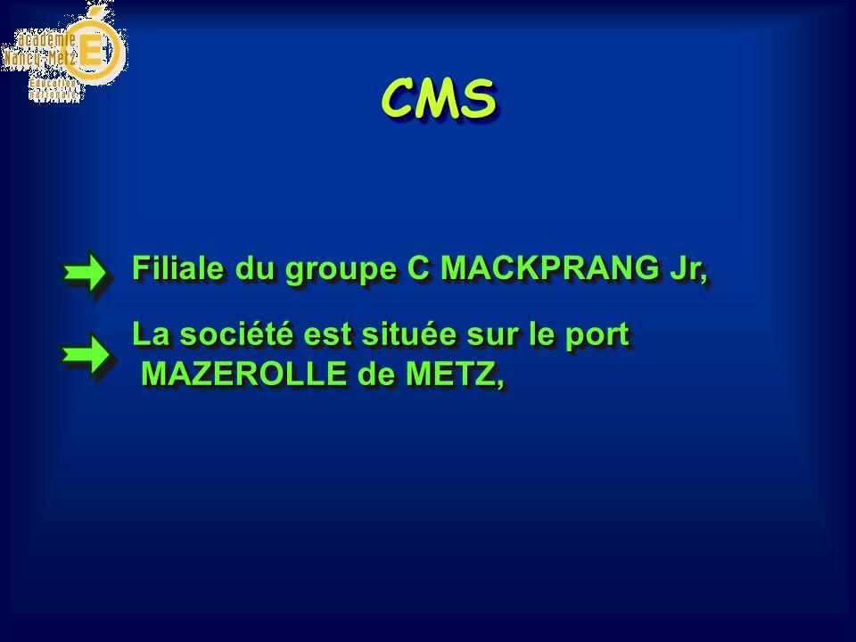 CMSCMS De céréales D engraisD engrais Domaine dactivité : Manutention et stockage Domaine dactivité : Manutention et stockage
