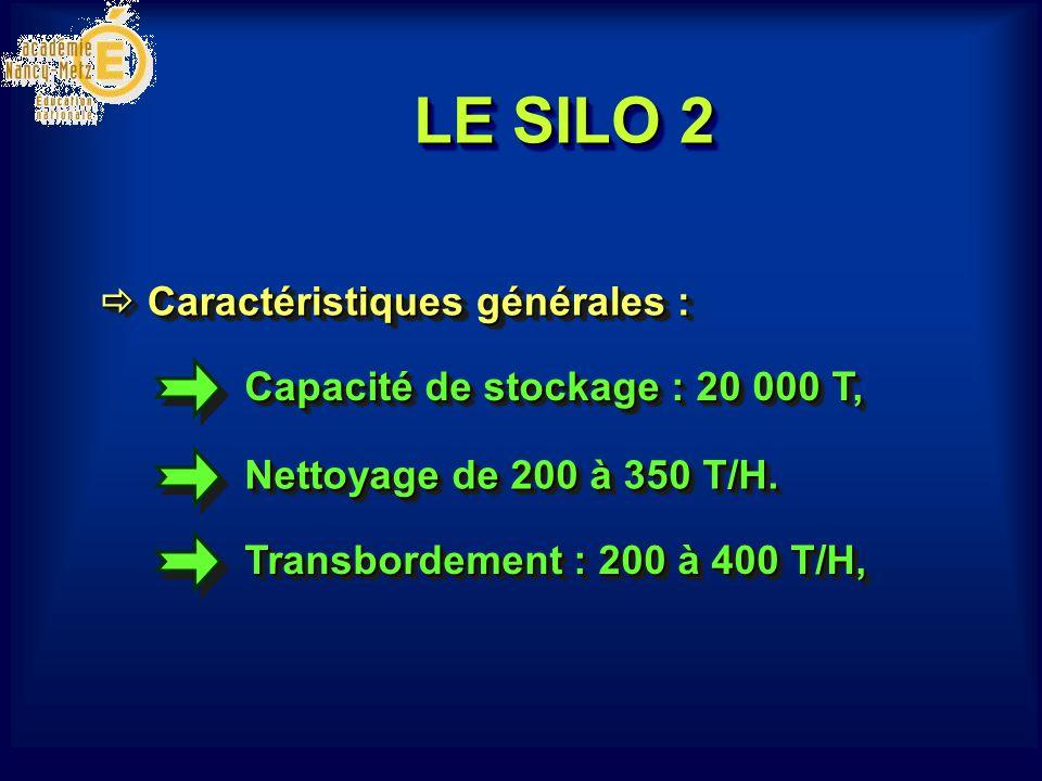 Capacité de stockage : 20 000 T, Nettoyage de 200 à 350 T/H. Caractéristiques générales : Caractéristiques générales : Transbordement : 200 à 400 T/H,