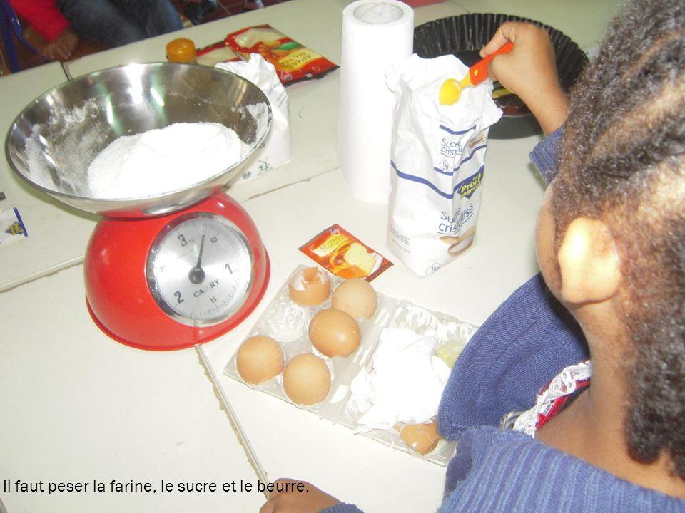Voici la liste des ingrédients que nous avons utilisés pour une galette: 500g de farine, 250 g de sucre, 250g de beurre, 1 œuf, un verre de lait, 1 sa