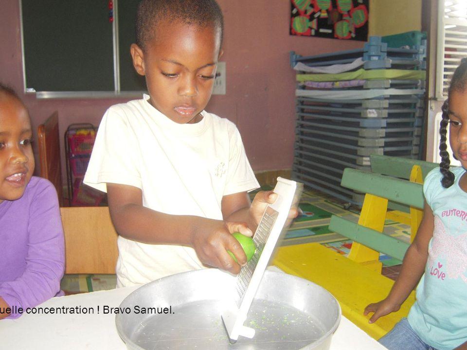 Quelle concentration ! Bravo Samuel.