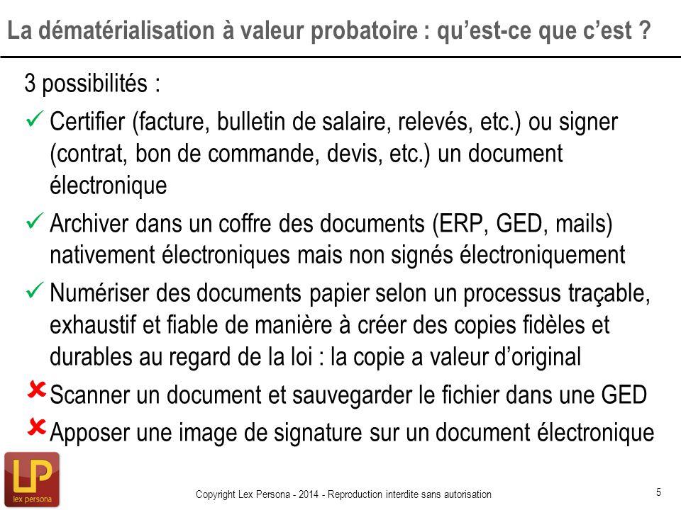 3 possibilités : Certifier (facture, bulletin de salaire, relevés, etc.) ou signer (contrat, bon de commande, devis, etc.) un document électronique Ar