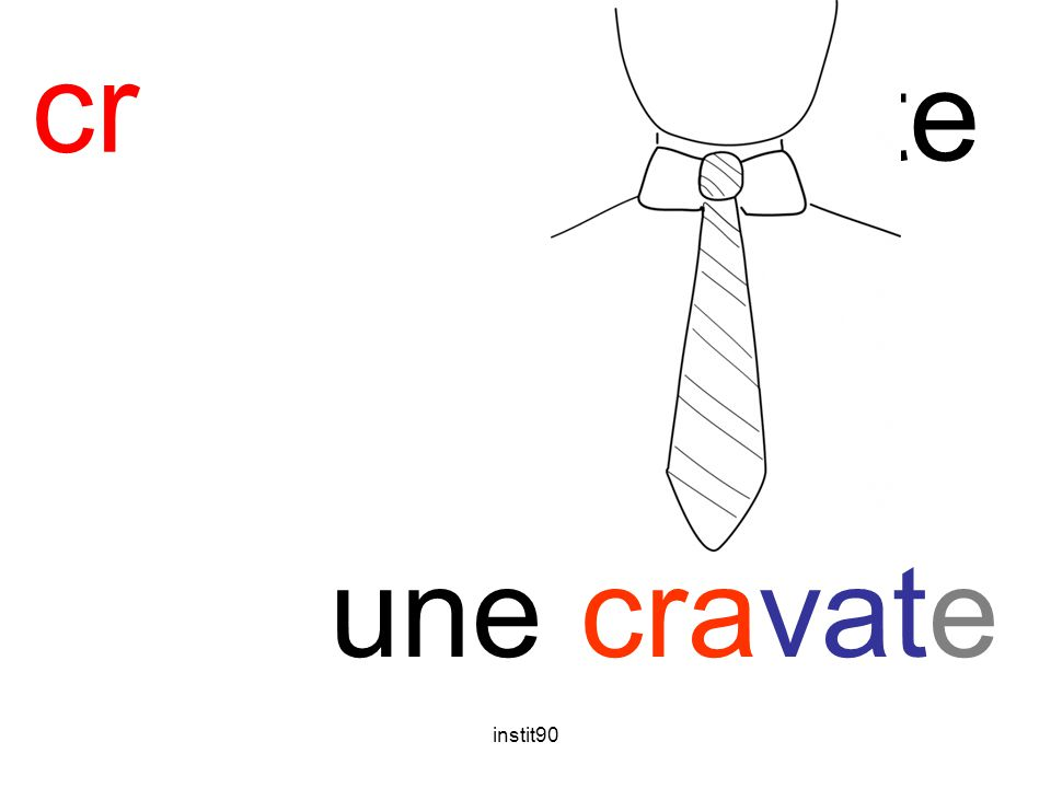 instit90 cr cravate une cravate