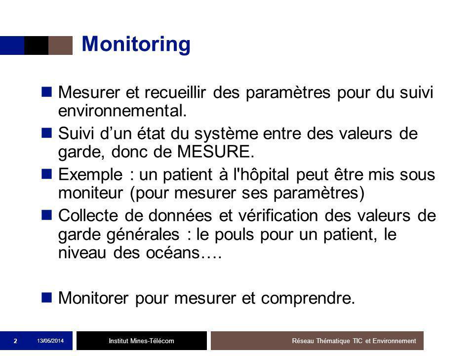 Institut Mines-Télécom Monitoring Mesurer et recueillir des paramètres pour du suivi environnemental.
