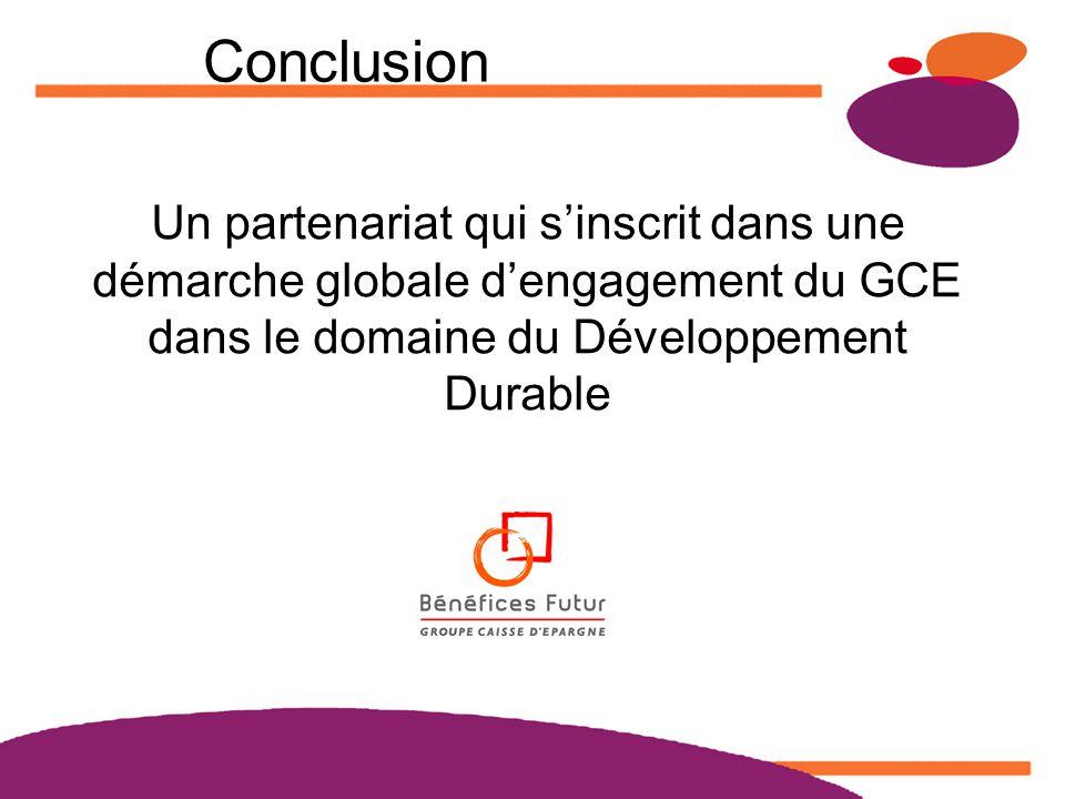 Matinées Ecodéfi 2008 www.actionslocales.caisse-epargne.fr Conclusion Un partenariat qui sinscrit dans une démarche globale dengagement du GCE dans le domaine du Développement Durable