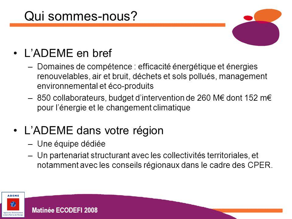 Matinées Ecodéfi 2008 www.actionslocales.caisse-epargne.fr Matinée ECODEFI 2008 Qui sommes-nous.