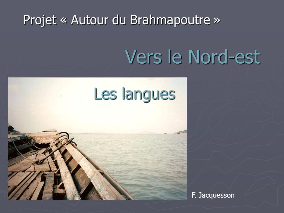 Vers le Nord-est Projet « Autour du Brahmapoutre » F. Jacquesson Les langues