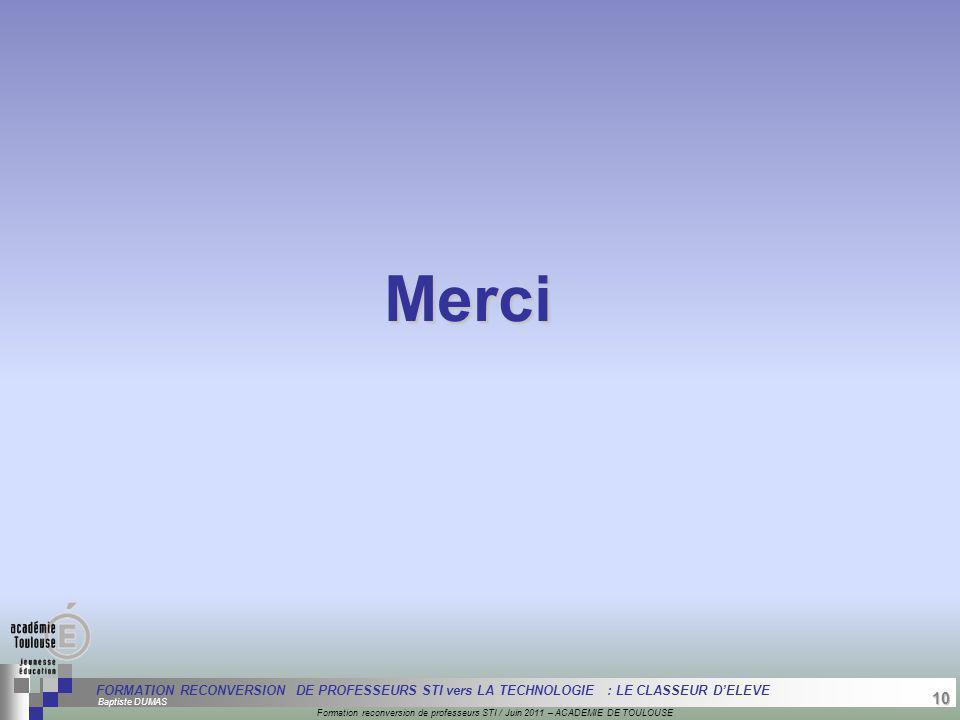 10 Séminaire « Définition de Produits » : méthodologie de définition dune pièce GREC INITIALES Formation reconversion de professeurs STI / Juin 2011 –