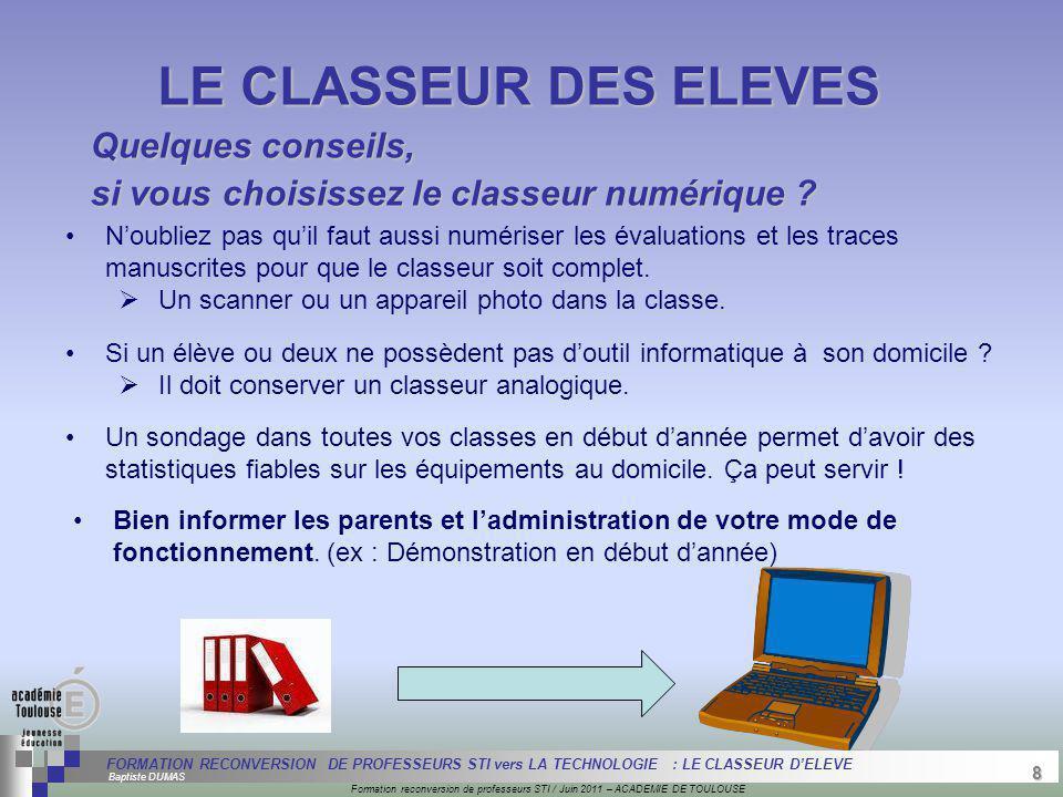 8 Séminaire « Définition de Produits » : méthodologie de définition dune pièce GREC INITIALES Formation reconversion de professeurs STI / Juin 2011 –