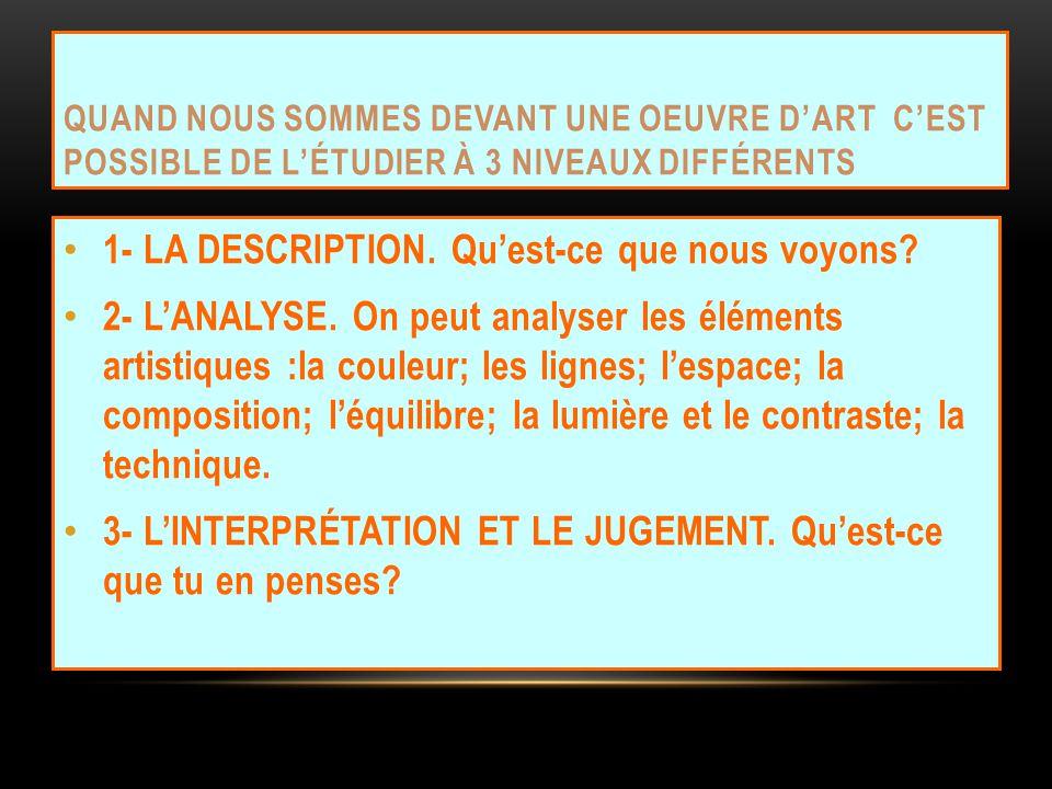 QUI EST LARTISTE? QUEL EST LE TITRE DE CE TABLEAU? QUAND EST-CE QUIL A ÉTÉ RÉALISÉ ? Eugène Delacroix (1798-1863) La Liberté guidant le peuple.1830. M