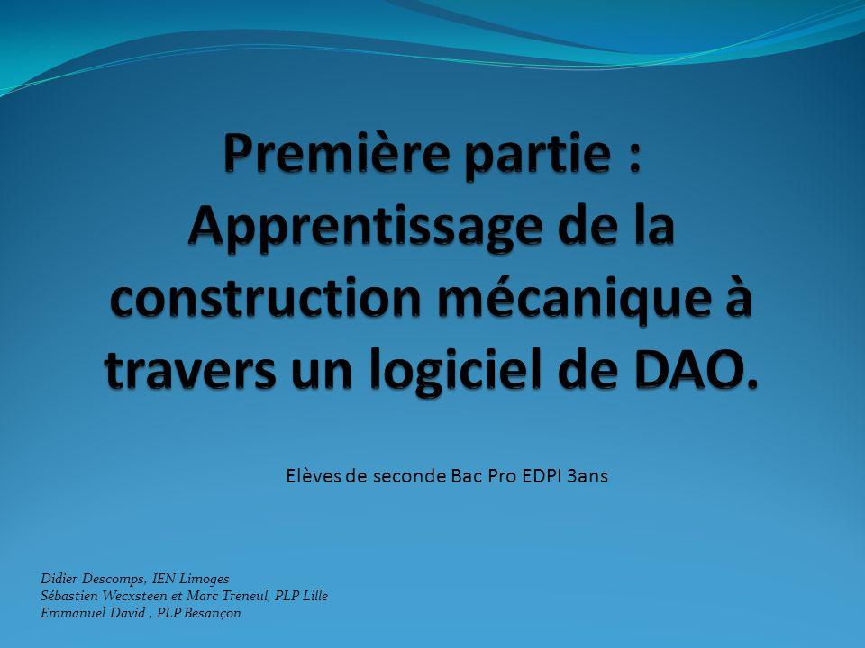 Contexte : Classe Bac Pro EDPI en trois ans depuis 2005.