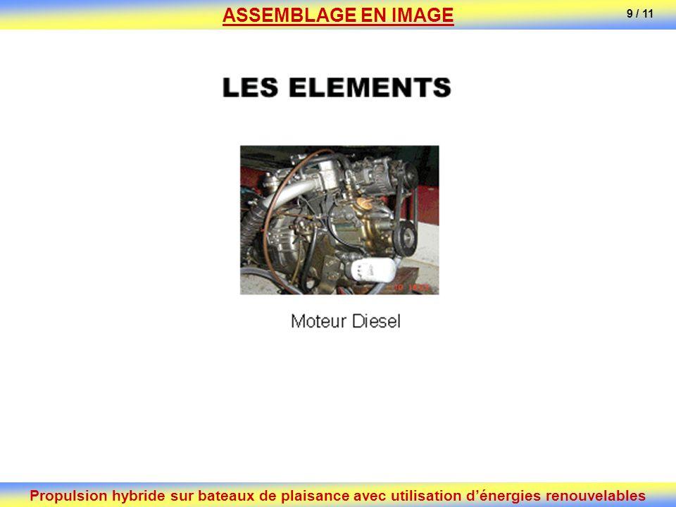 Propulsion hybride sur bateaux de plaisance avec utilisation dénergies renouvelables ASSEMBLAGE EN IMAGE 9 / 11