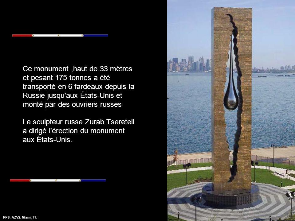 PPS: AZV2, Miami, Fl.Amazing Grace - Mantovanni 11 septembre 2006 14h30 The Peninsula (Port de Bayonne, New Jersey L'inauguration du Monument du Nouve