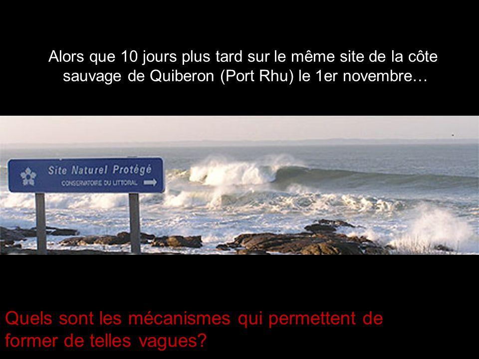 Alors que 10 jours plus tard sur le même site de la côte sauvage de Quiberon (Port Rhu) le 1er novembre… Quels sont les mécanismes qui permettent de f
