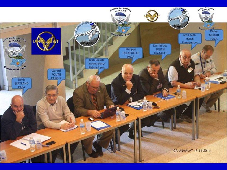 Délégation de l AAALAT Rhône-Alpes & Limitrophes Mr BRAULT Michel Président Mr BOUÉ Jean-Marc Trésorier Mr MARCHAND Jean-Claude Secrétaire Mr CLÉMENTZ André Webmaster – Sec/Adjt http://aaalat.rhone.alpes.free.fr/index.html