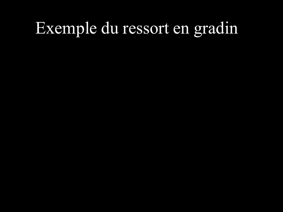 Exemple du ressort en gradin