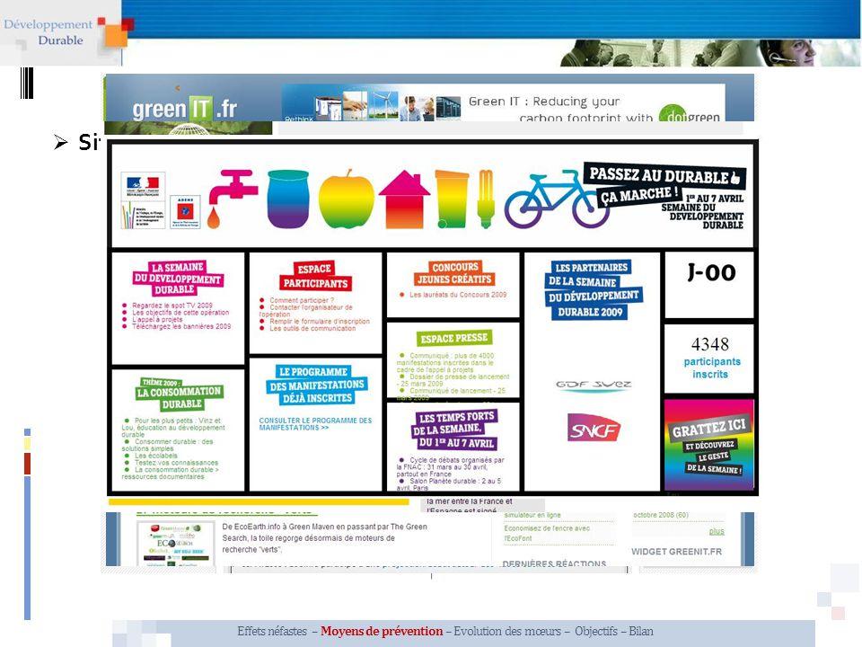 Sites Internet Associations, organismes