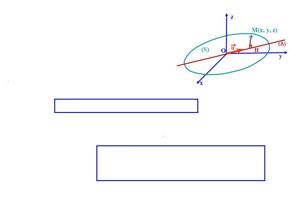M(x, y, z) H O u ( ) x z y (S) 1-7-2