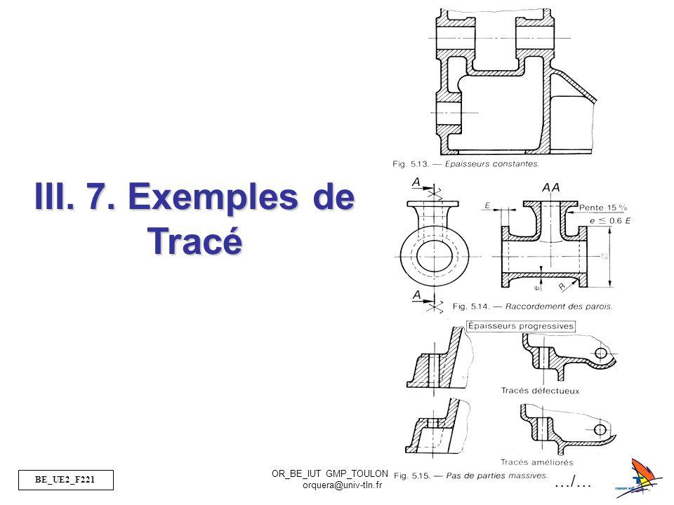 BE_UE2_F221 OR_BE_IUT GMP_TOULON VAR orquera@univ-tln.fr 42/50 III. 7. Exemples de Tracé …/…