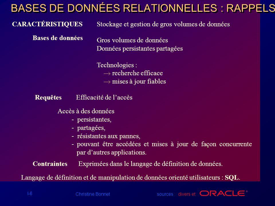 I-17 Christine Bonnet sources : divers et Création dun diagramme EA correspondant aux spécifications Scénario –...