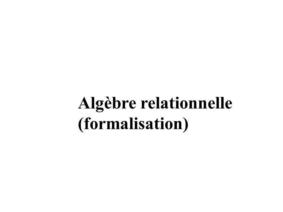 Algèbre relationnelle (formalisation)