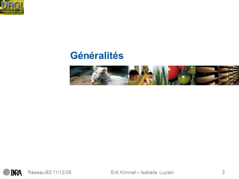 Erik Kimmel – Isabelle Luyten Réseau BD 11/12/083 Généralités