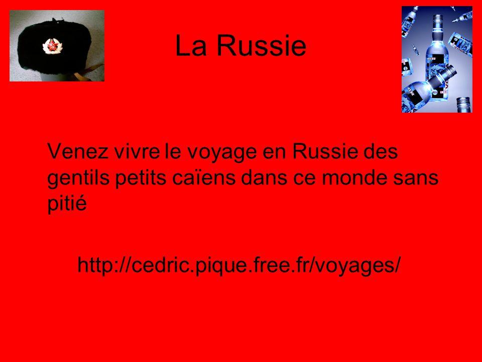La Russie Venez vivre le voyage en Russie des gentils petits caïens dans ce monde sans pitié http://cedric.pique.free.fr/voyages/