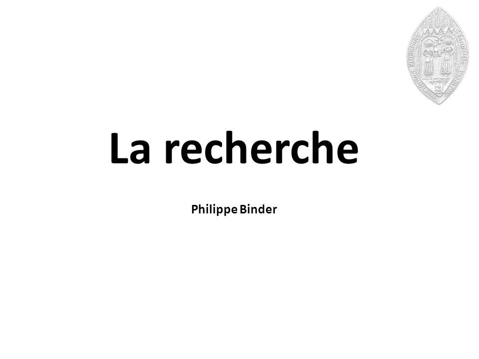 La recherche Philippe Binder