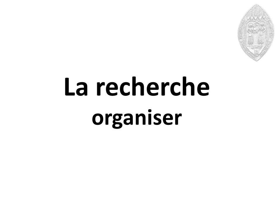 La recherche organiser