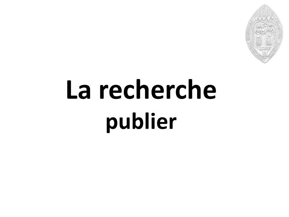 La recherche publier