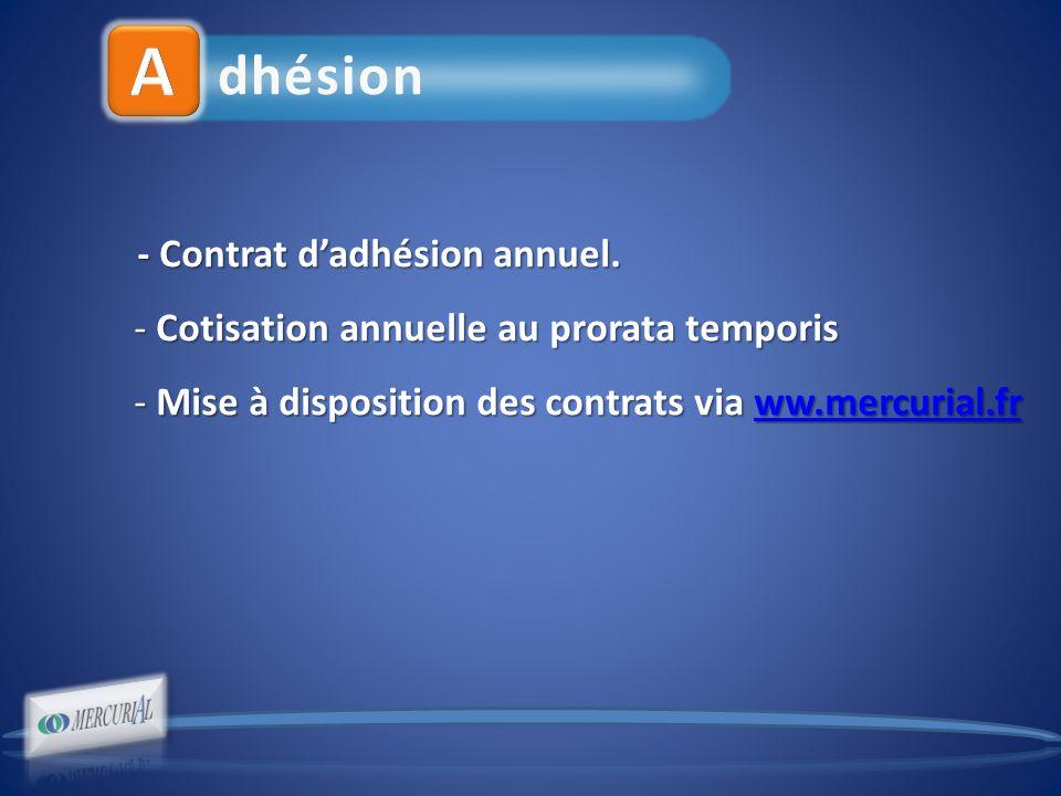 dhésion - Contrat dadhésion annuel. - Contrat dadhésion annuel.