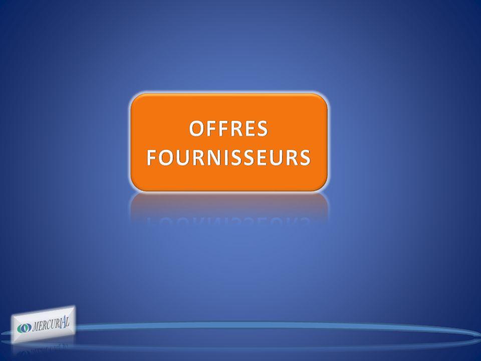 ournisseurs - Contrats de référencements annuels.