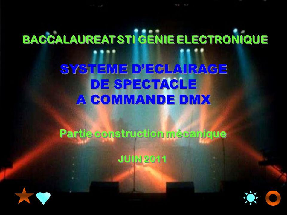 SYSTEME DECLAIRAGE DE SPECTACLE A COMMANDE DMX SYSTEME DECLAIRAGE DE SPECTACLE A COMMANDE DMX BACCALAUREAT STI GENIE ELECTRONIQUE Partie construction