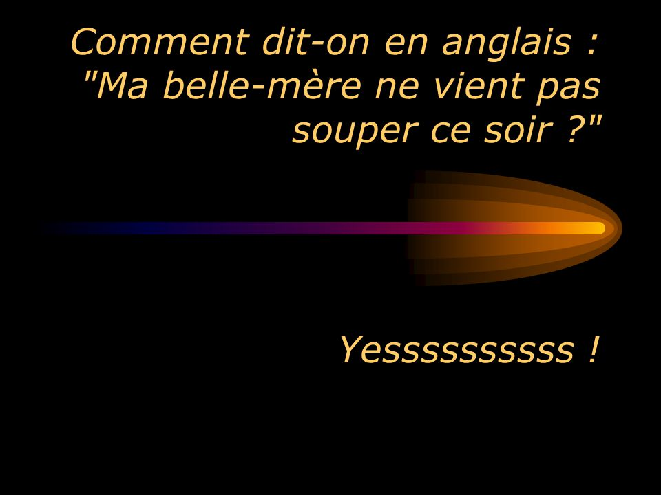 Comment dit-on en anglais :