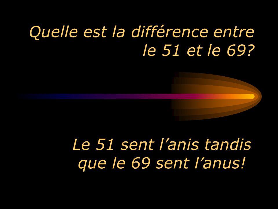 Quelle est la différence entre le 51 et le 69? Le 51 sent lanis tandis que le 69 sent lanus!