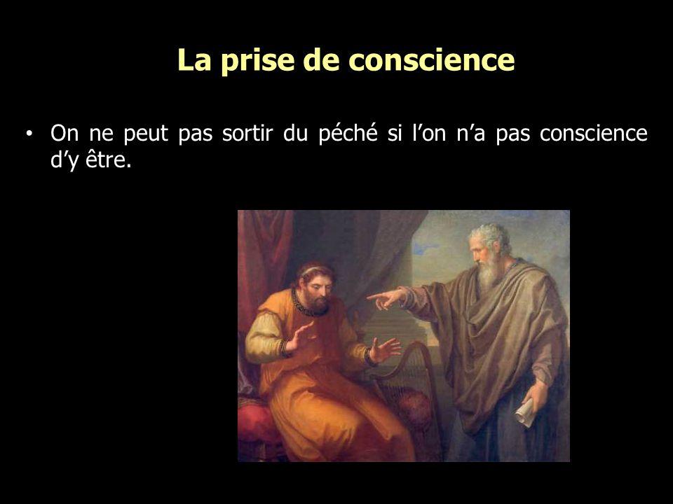 La prise de conscience On ne peut pas sortir du péché si lon na pas conscience dy être.