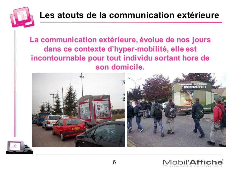 La communication extérieure, évolue de nos jours dans ce contexte dhyper-mobilité, elle est incontournable pour tout individu sortant hors de son domi