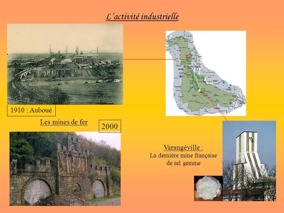 Lactivité industrielle Les mines de fer 1910 : Auboué 2000 Varangéville : La dernière mine française de sel gemme