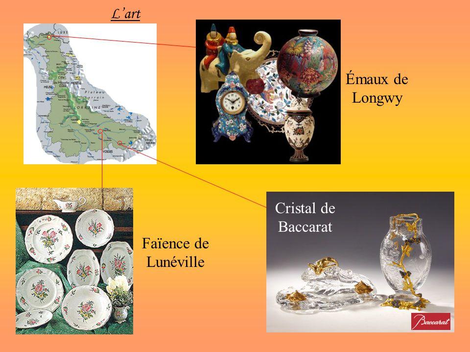 Lart Faïence de Lunéville Émaux de Longwy Cristal de Baccarat